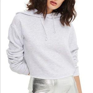 Topshop cropped hoodie
